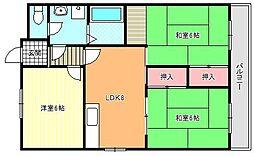 ヴォーンハイム駒川[5階]の間取り