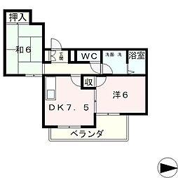 メゾンド・タナカ[3階]の間取り
