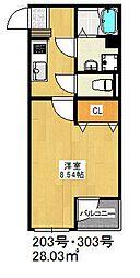 福岡県福岡市博多区光丘町1の賃貸マンションの間取り