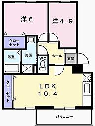 兵庫県姫路市青山西3丁目の賃貸マンションの間取り