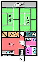 ベルハウス[203号室]の間取り