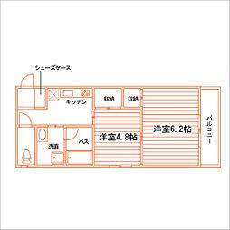 アミスター東島田[10階]の間取り