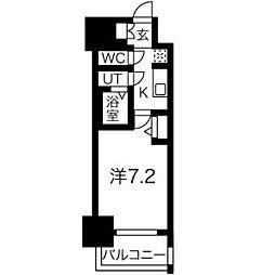アドバンス名古屋モクシー 10階1Kの間取り