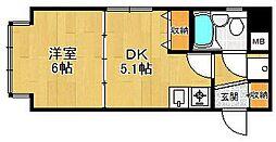 兵庫県西宮市鳴尾町5丁目の賃貸マンションの間取り