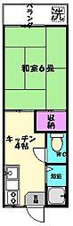 東京都杉並区荻窪1丁目の賃貸アパートの間取り