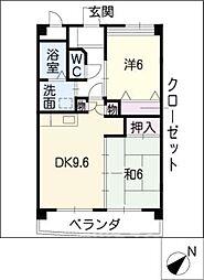 エクセル[4階]の間取り