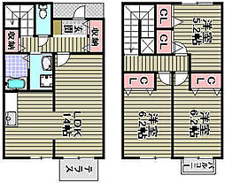 [タウンハウス] 大阪府高石市加茂3丁目 の賃貸【/】の間取り