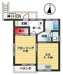 坂栄荘(さかえそう)[201号室]の間取り
