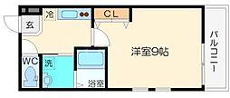 フジパレス豊新III番館 3階1Kの間取り
