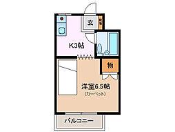 三重県鈴鹿市平田2丁目の賃貸マンションの間取り