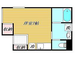 東京都練馬区豊玉中1丁目の賃貸アパートの間取り