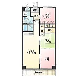 第14柴田マンション[1階]の間取り