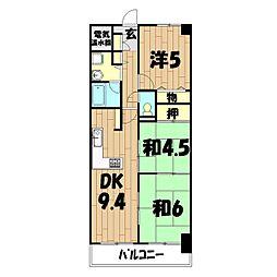 ライオンズマンション二俣川[5階]の間取り
