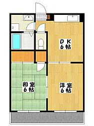 ガーデンパレス[3階]の間取り