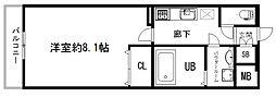 アドバンス京都アリビオ[3階]の間取り