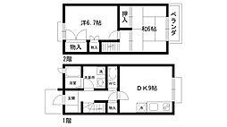 [テラスハウス] 兵庫県西宮市松園町 の賃貸【/】の間取り