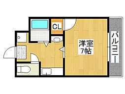 木津川TSマンション[4階]の間取り