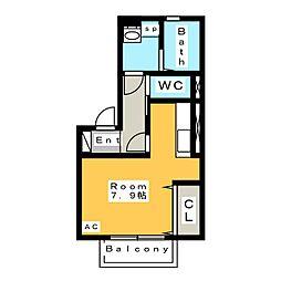 仮 D-room今池[2階]の間取り