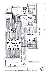 JR山手線 神田駅 徒歩2分の賃貸マンション 7階1LDKの間取り