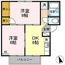 ヴィレッジ生田[2階]の間取り