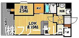 福岡県福岡市博多区東光2丁目の賃貸マンションの間取り