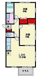 メゾン三宅[A102号室]の間取り