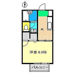 フォレストハウスI[1階]の間取り