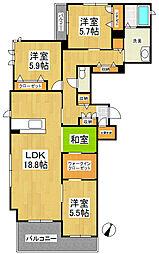 GS野中[2階]の間取り