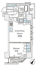 JR総武本線 馬喰町駅 徒歩4分の賃貸マンション 8階1LDKの間取り