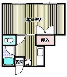 大空マンション[1階]の間取り