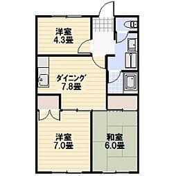 光マンション[1階]の間取り