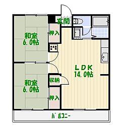 岡田マンション[0301号室]の間取り