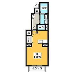 プリーマKI[1階]の間取り