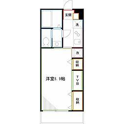 京王井の頭線 三鷹台駅 徒歩19分の賃貸アパート 2階1Kの間取り