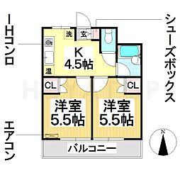 ハイム戸部[1階]の間取り
