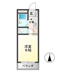 コーポ大桜 II[1階]の間取り