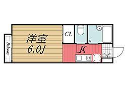 千葉県佐倉市上座の賃貸アパートの間取り