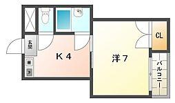 花パークエム[2階]の間取り