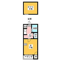 K&Y井尻弐番館[1階]の間取り