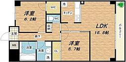 AMARE長堀通[2階]の間取り