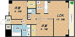 AMARE長堀通[4階]の間取り