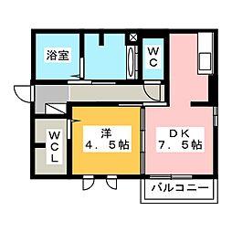 サンライフ A棟[2階]の間取り