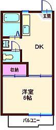 カーサ・イトー(六角橋)[207号室]の間取り
