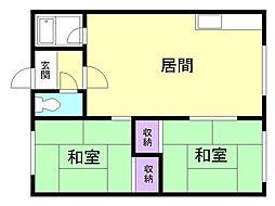 ソゴウマンション 1階2LDKの間取り