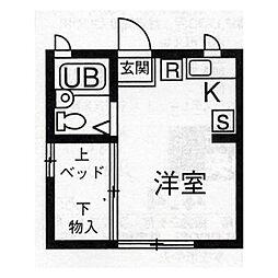 上里リバーサイドヴィラIX(9)[101号室]の間取り
