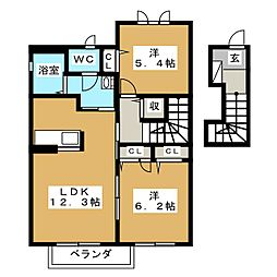 Arcadia III[2階]の間取り