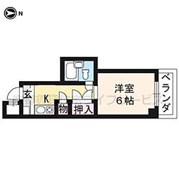 大藤マンション[3-D号室]の間取り