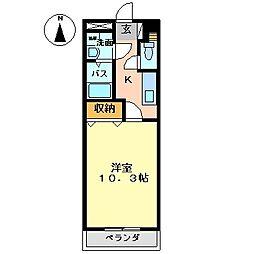 岡山県総社市三輪の賃貸アパートの間取り