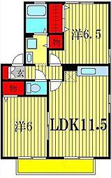 ドルフクレセント弐番館[2階]の間取り