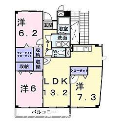 エポック鯛浜[3階]の間取り